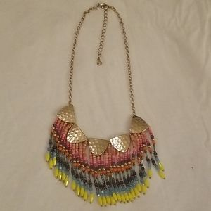 Loft colorful beaded necklace